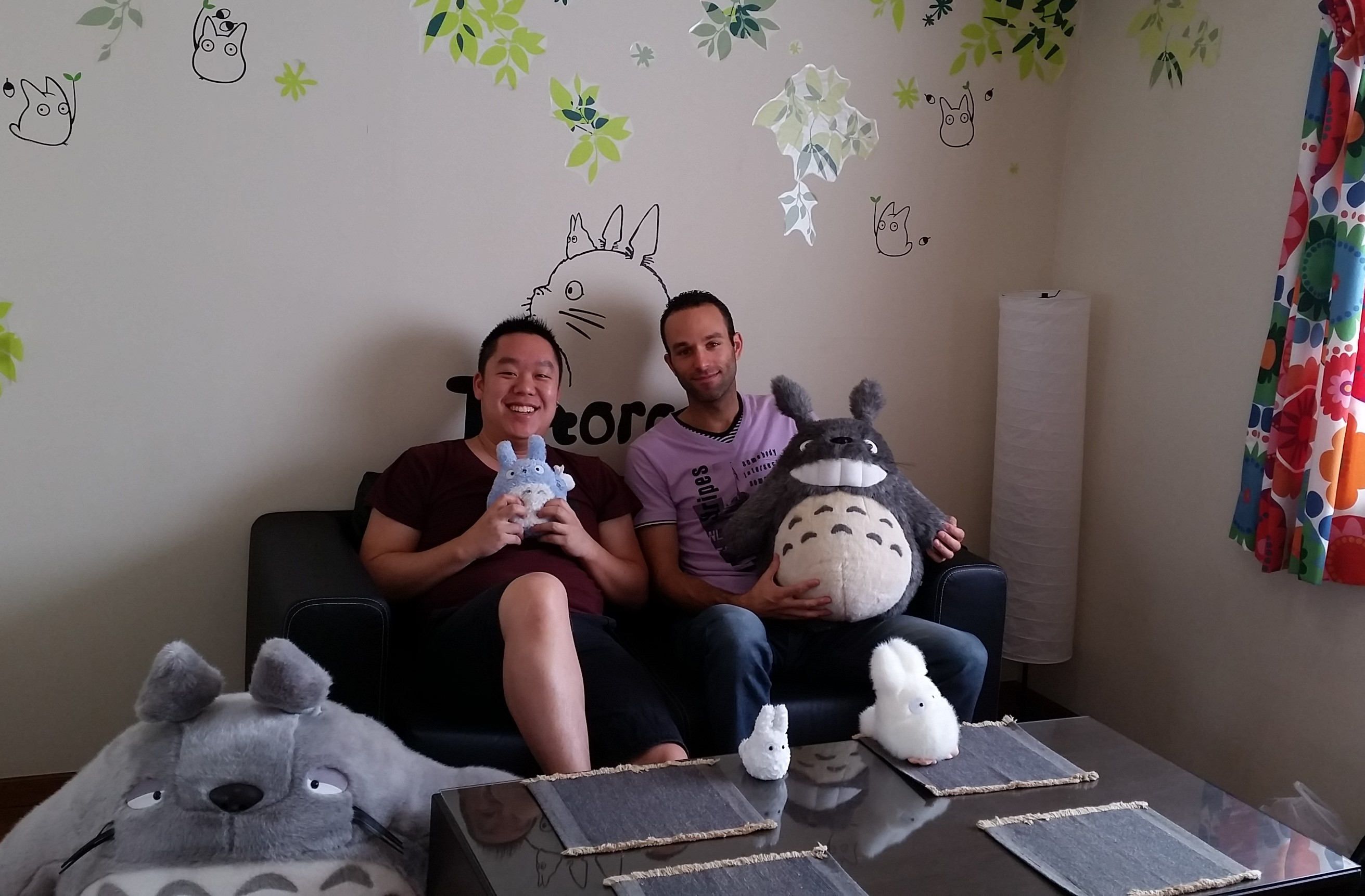 Me, Brendan and some of our housemates at Totoro House, Japan.